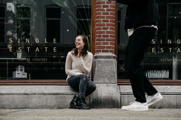 fotograaf op de foto in Den Haag