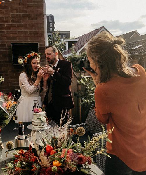 eve-fotografie aan het werk op een bruiloft